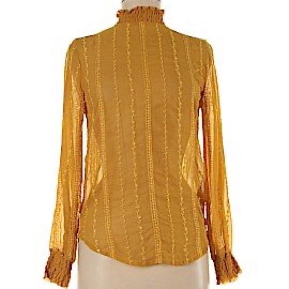Top shop yellow blouse